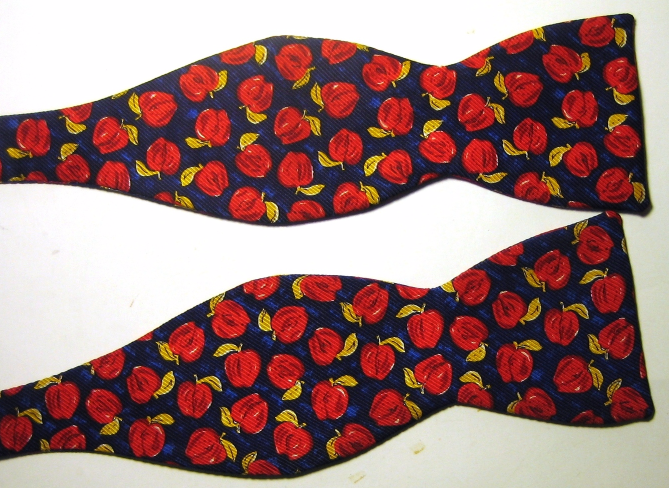 beau ties ltd rich blue gold apples fruits bow