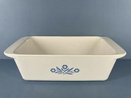 Coring Ware Blue Cornflower Bread Pan P-315 9x5x3  2 Qt - $9.46