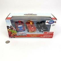 Marvel Super Hero Adventures 3 Pack Vehicle Set Race Cars Iron Man Black... - $19.79