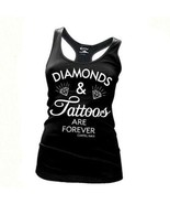 Kartel Tinte Diamanten & Tätowierungen Tattoos Racerback Junior Panzer T... - $23.13
