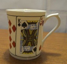 Queens Staffordshire - Cut For Coffee - Playing Card White Coffe Mug Cup - $18.67
