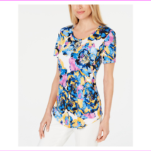 JM Collection Women's Hits At Hip Scoop Neckline Shirttail-Hem Top - $6.48