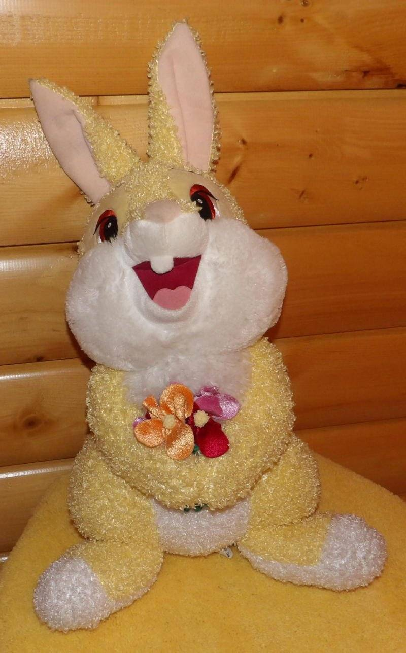 "Primary image for Disney Exclsv Bambi THUMPER Rabbit Plush 26"" BIG Bunny Holds Flower Bouquet"