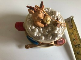 Westmar 1997 Christmas Ornament Reindeer Taking a Bubble Bath In A Cup w... - $4.94