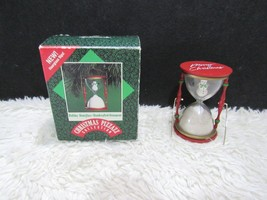 1987 Hallmark Collection, Snowman In Hourglass, Christmas Tree Ornament - $6.95