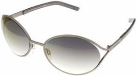 Jil Sander Sunglasses Women Brushed Silver Metal JS109S 045 Oval 58-18-125 - $98.01