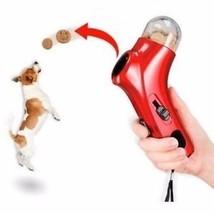 Handheld Treat Launcher Pet Dog Interactive Fun Snacks Food Feeder Training Toy - $7.99