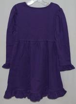 Blanks Boutique Long Sleeve Empire Waist Purple Ruffle Dress Size 4T image 2