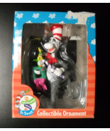 Enesco Christmas Ornament 1997 Cat In The Hat Candy Cane Wreath and Gree... - $14.99