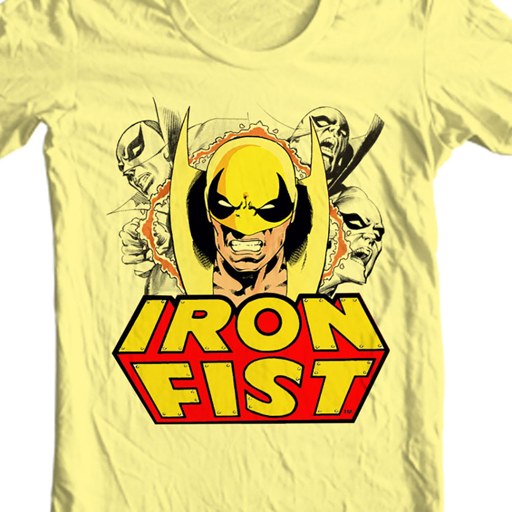 rand comic books kung fu vintage luke cage power man netflix graphic tee for sale online yellow