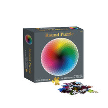 1000pc Jigsaw Micropiece Hard Puzzle Classic Artwork Round Age 14+ Color... - $14.99