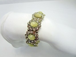 J.Crew Factory Stretch Bracelet Rhinestones Yellow Acrylic Stones New  - $14.25