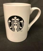 Starbucks Ceramic Mug Coffee Tea Beverage White Black Siren Mermaid Logo... - $9.41