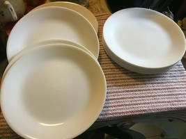 "Corelle 10-1/4"" Dinner Plates Winter FROST/ Winter WHITE/ Just White X 13 - $65.00"
