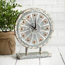 Country WINDMILL TABLETOP CLOCK Farmhouse Rustic Vintage Distressed Prim... - $56.99