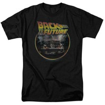 Back to the Future Retro 80's T Shirt Classic Marty McFly DeLorean Car UNI990 image 1