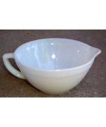FIRE KING WHITE MILK GLASS MIXING /BATTER BOWL WITH POUR SPOUT-OVEN WARE... - $24.75