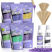 Hard Wax Beans Kit [6 Bags + Pre & After Spray] Hard Wax Beads Hair Removal - Wa image 11