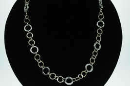 TIFFANY & CO. Sterling Silver and 18K Yellow Gold Circle Link Necklace (... - $1,050.00