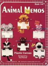 Animal Memos Bear, Lion, Pig, Elephant Cat Plastic Canvas PATTERN/INSTRU... - $4.47
