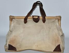 Doctor's Bag from 1980 Vintage Debonair Kierra Linen and Bamboo  - $60.70