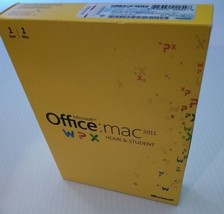 Microsoft Office MAC 2011 Home & Student DVD 1 Mac w/ Product Key Complete - $29.69