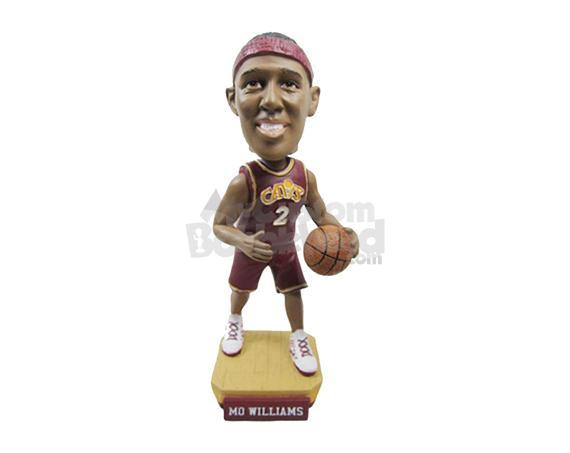 Custom Bobblehead Nba Basketball Player Dribbling Like A Pro - Sports & Hobbies