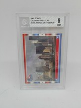 2001 Topps Enduring Freedom Stickers #3 An Attack on Freedom Beckett Grade 8 NM - $1.99