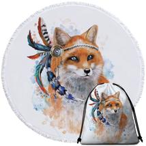 Native American Fox Beach Towel - $12.32+