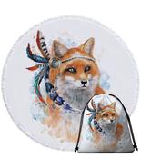 Native American Fox Beach Towel - $12.32+