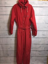 Vintage red one piece ski suit Size GB16 EU 42 - $39.00