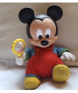 """9"""" Disney Touch 'n Surprise Baby Mickey - works •  shakes rattle, moves ... - $38.25"""