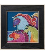 Wild Horses 2017 Horse Collection AIDA cross stitch kit Laurel Burch Mil... - $16.20