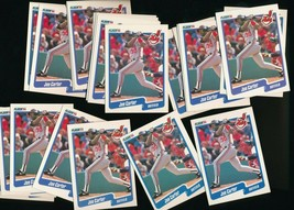 1990 Fleer Joe Carter Indians #489 Lot of 24 - $2.66