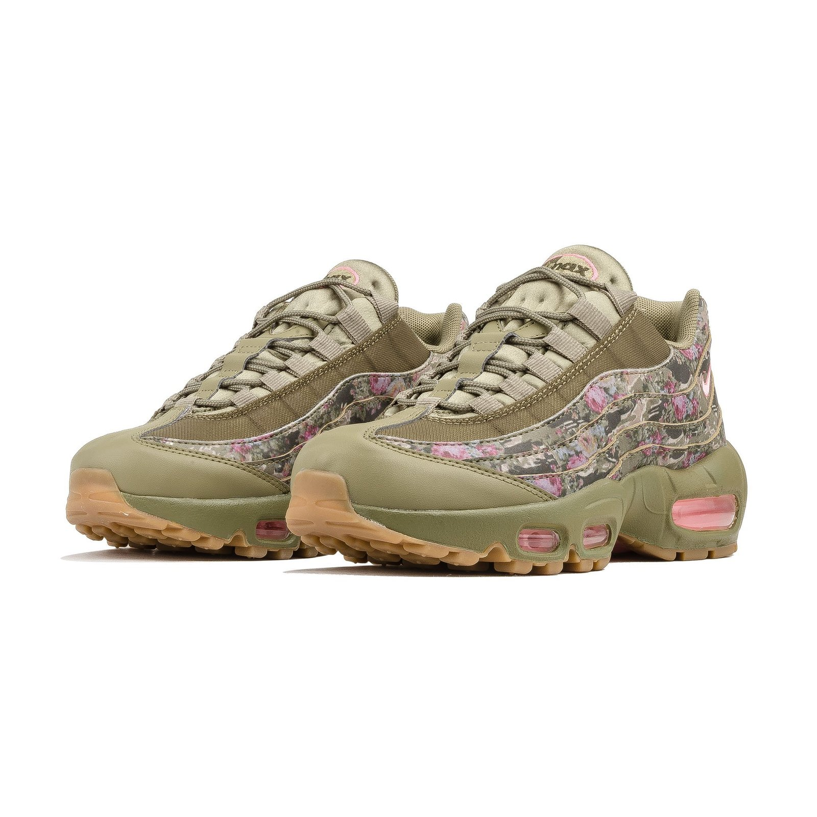 best sneakers 42962 4cb05 Nike Women s Air Max 95 (Floral Camo  Olive Green  Pink) Sizes 5