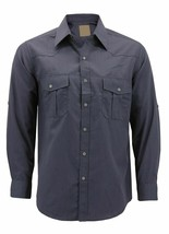Men's Casual Western Pearl Snap Button Down Cowboy Dress Shirt w/ Defect - 3XL image 1