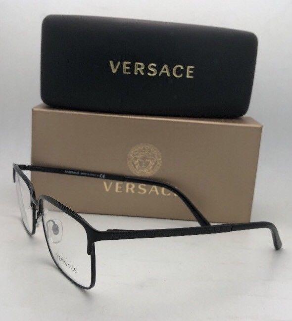 93ee37dde4 New VERSACE Eyeglasses 1232 1261 54-16 140 Matte Black Rectangular Frames