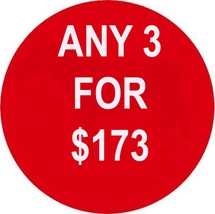 FRI-SUN ANY 3 IN STORE FOR $173 INCLUDES ALL LISTINGS BEST OFFERS DEAL - $0.00