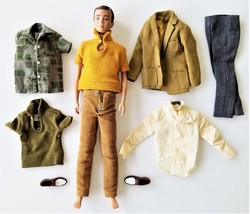 1960s vintage LOT KEN DOLL and CLOTHES mattel barbie black tags shoes - $68.95