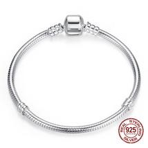 Genuine 925 serling silver bracelet fi original Pandora charm bracelet b... - $54.41