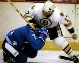 Stan Jonathon Fight Boston Bruins C Vintage 11X14 Color Hockey Memorabilia Photo - $14.95