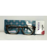 Womens Foster Grant Reading Glasses +2.75 Elodie Brown Tortoise Teal Gre... - $15.43