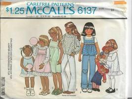 Vtg McCall's Carefree Pattern #6137-Girl's Dress-Dress/Top-Jumper/Sundre... - $5.86