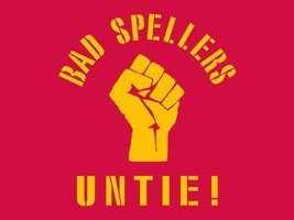FUNNY T-SHIRT Bad Spellers Untie T-Shirt School Teacher Mens Womens Kids Tee  - $11.99