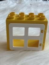Lego DUPLO YELLOW /& BROWN BARN DOOR WINDOW PANE DOOR Building Block Frame