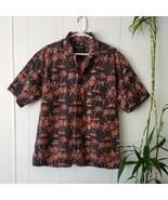Woolrich Button Up Short Sleeve Casual Dress Shirt Men's Size L Beach Pa... - $22.44