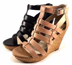 Jessica Simpson Jeyne Leather Platform Wedge Closed Back Sandals Choose ... - $51.20+
