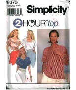Simplicity 8373 Top with neckline variations  Uncut Sewing Pattern - $6.30