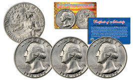 1976 S Mint Washington Bicentennial Quarter Gem BU Silver COA & CAPSULE ... - $19.75