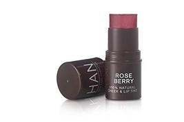 HAN Skincare Cosmetics All Natural Cheek and Lip Tint, Rose Berry